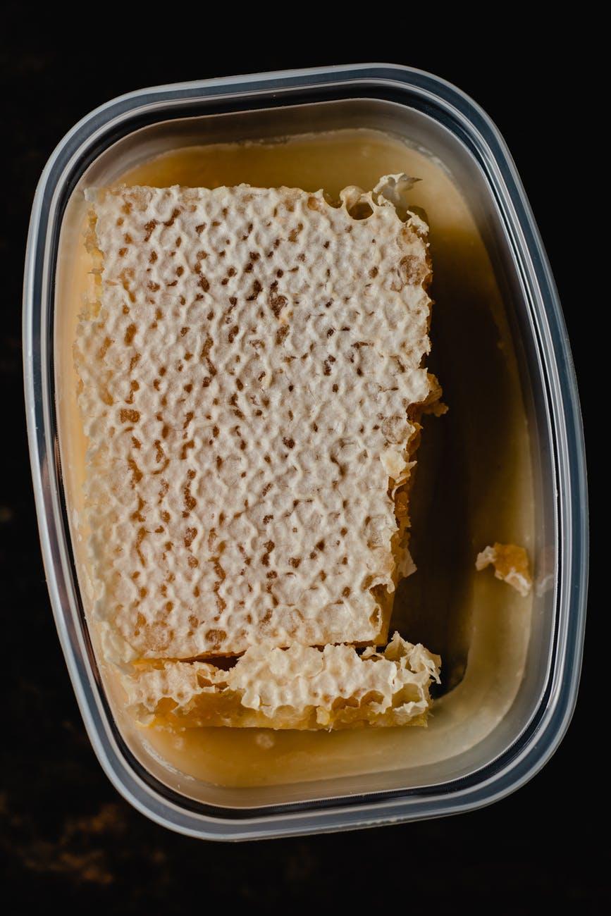 food honeycomb glass sugar